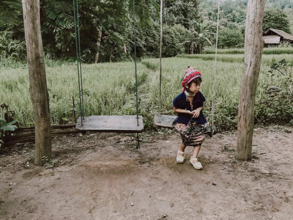 Little Girl on Swing in Chiang Mai - Experience Chiang Mai as a Local