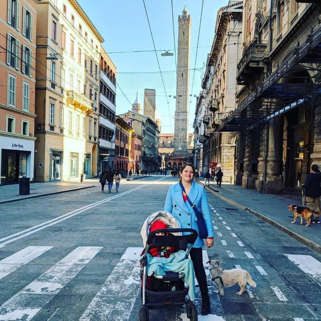 Myself, Marcella and Leo exploring Bologna - Travel Resolutions for 2018