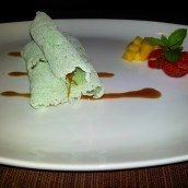 Indonesian dessert crepes Kayumanis
