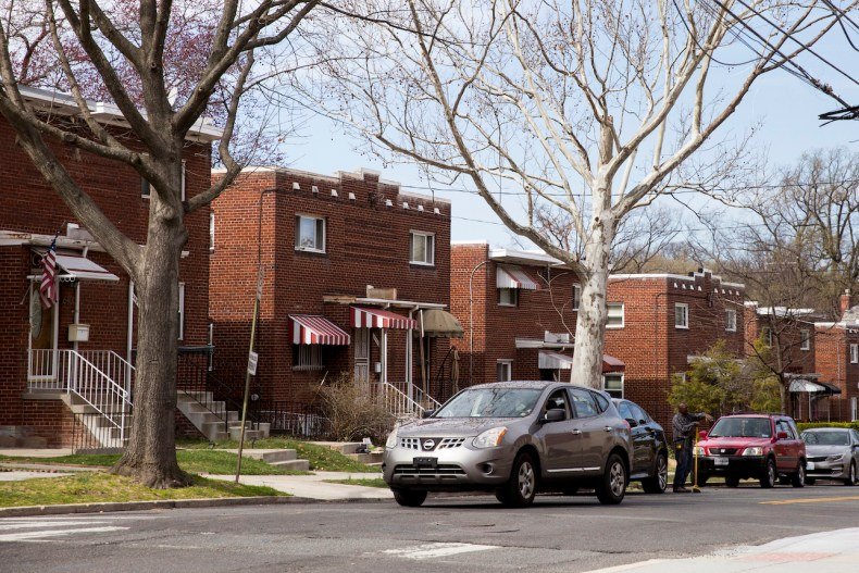 The neighborhood surrounding Calvin Coolidge High School