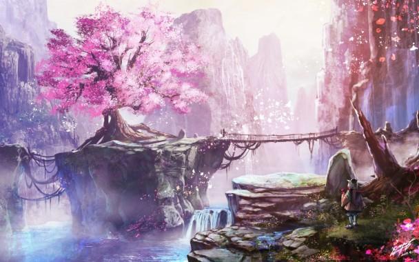 Anime Cherry Blossom Tree Wallpaper Cherry Blossom Wallpaper Anime 2880x1800 Download Hd Wallpaper Wallpapertip