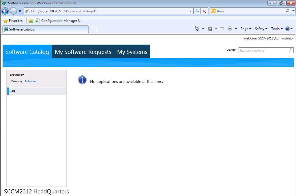 Application Catalog Website