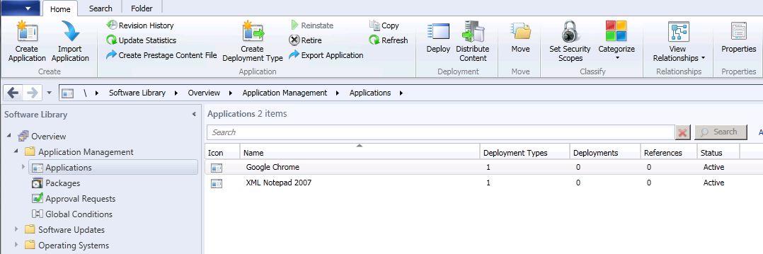 Application Catalog in SCCM2012