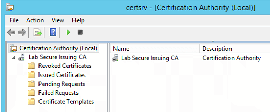 Microsoft certificate authority ca wont start active directory certificate services did not start could not load or verify the current ca certificate lab ca object was not found yadclub Images