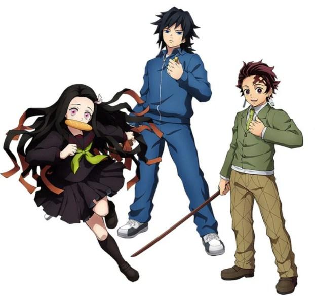 Game Demon Slayer: The Hinokami Chronicles Tambahkan Tanjiro, Nezuko, dan Giyu Tomioka versi 'Kimetsu Gakuen' 1