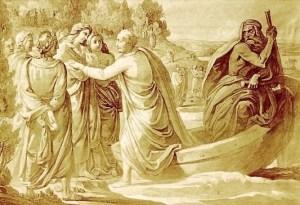 Goethe,  Ankunft im Elysium