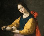 Saint Agatha by Francisco de Zurbaran