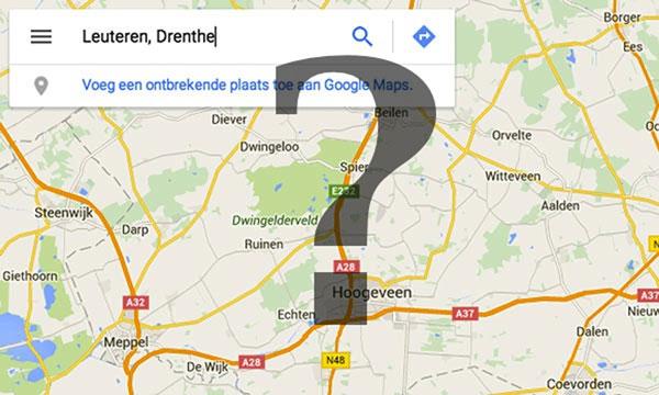 Op Google Maps mist Leuteren