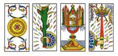 Los cuatro ases del tarot representan los poderes de los elementos