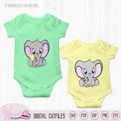 Neutral Baby elephant with rattle