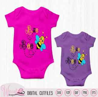 Bumblebee, Baby girl bee svg