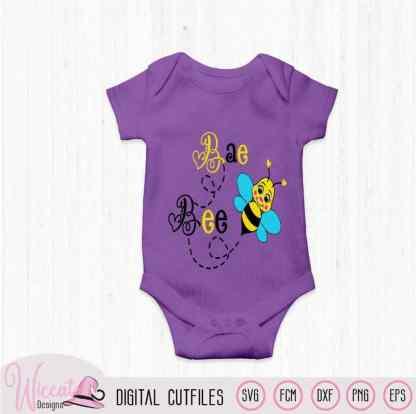 Bumblebee, Baby girl bee svg
