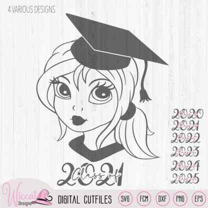Graduate girl svg, Class of 2021 svg,
