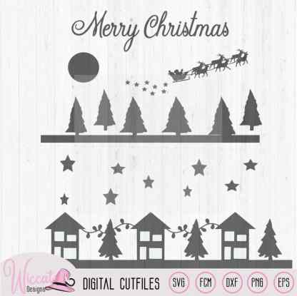 Christmas Window decal cut file SVG, dxf, FCM, JPEG and png