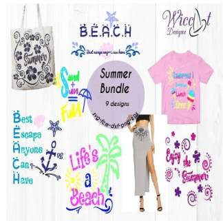 Beach bundle with beach quotes svg,