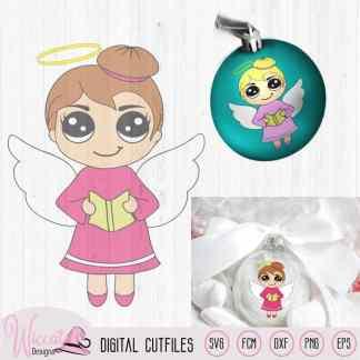 Singing Christmas angel, Kawaii angel