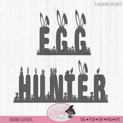Egg Hunting squad, Egg hunter, Easter font
