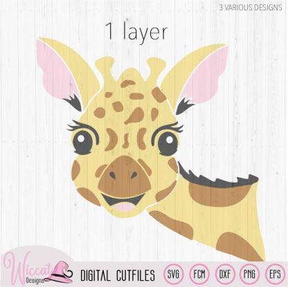 Funny Giraffe face svg, zoo animal svg,
