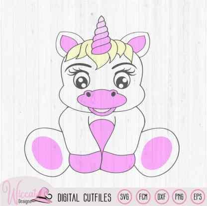 Baby unicorn Happy birthday svg,
