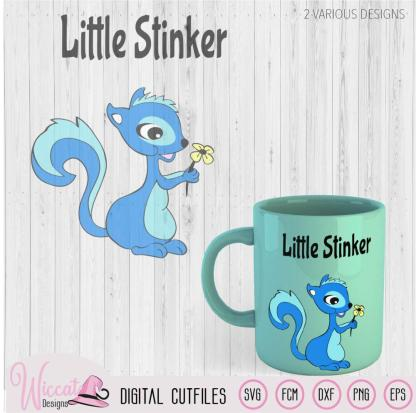 Skunk boy svg, Little stinker, Squirrel cut file