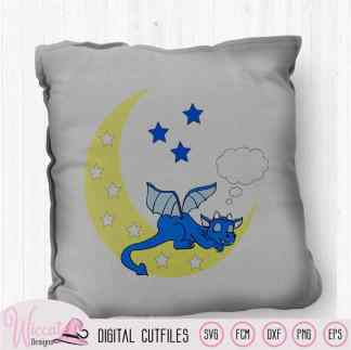 Sleeping Dragon on the moon svg