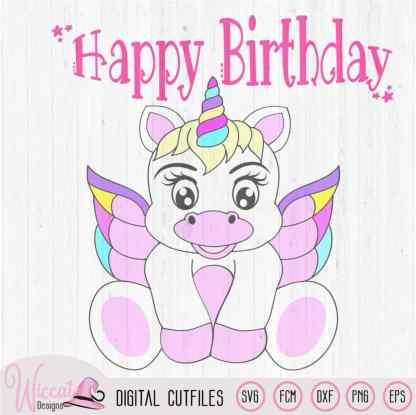 Rainbow Baby Unicorn with wings, Baby Birthday