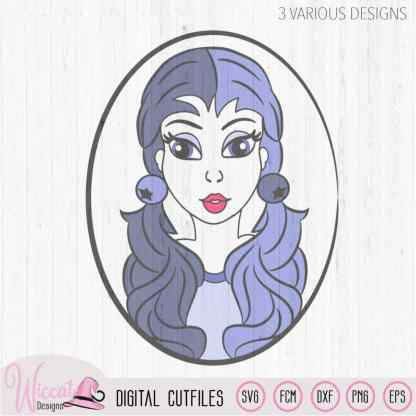 Gothic Blueberry girl svg, teenager avatar