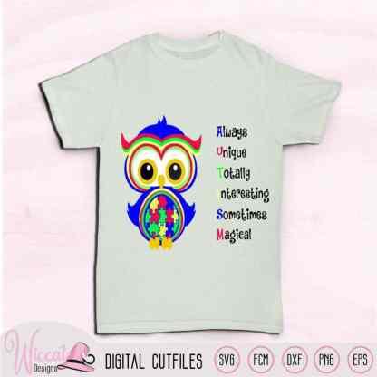 Puzzle Owl autism svg