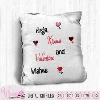 Valentine kisses , Free cut file SVG, dxf, FCM, and png
