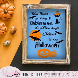 Halloween countdown, When witches quote