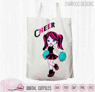 Cheerleader girl svg