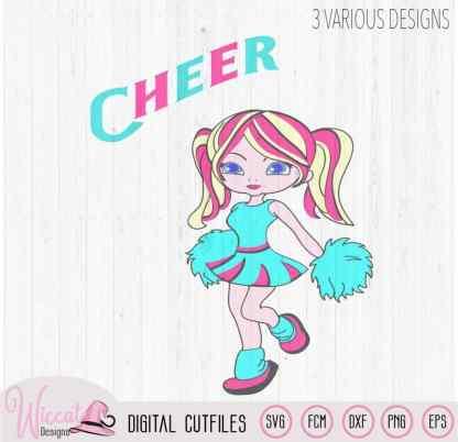 Cheerleader girl svg