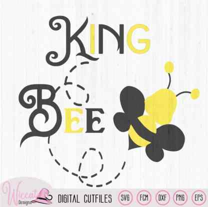 King bee svg, Bumblebee svg,
