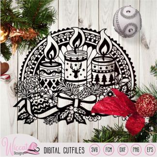 Kerst kaarsen, Kerst raam versiering,