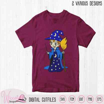 Little Wizard svg, male witch, boys design,