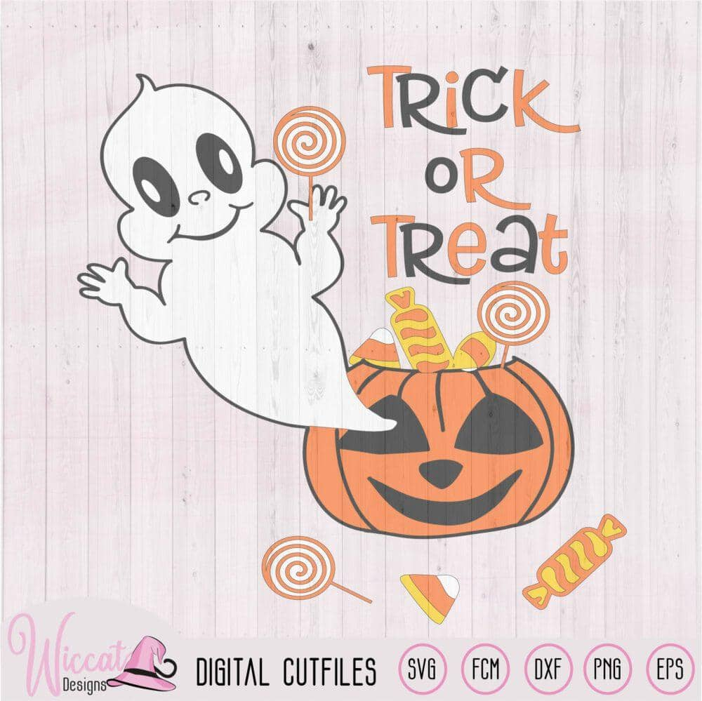 Ghost Out Of A Pumpkin Baby Halloween Wiccat Designs