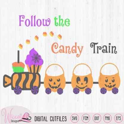 Halloween candy train, baby Halloween svg