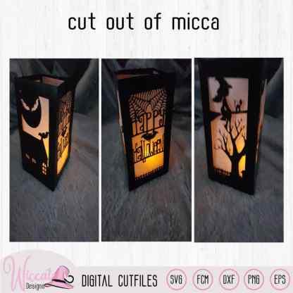 Happy Halloween lantaarn template,