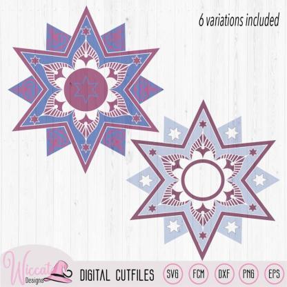Mandala star bundle, Christmas star svg, Split star svg, glass block, Ornament svg, cricut svg, scanncut fcm, vinyl craft, window decoration