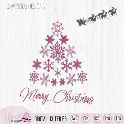 Snowflake Christmas tree, Merry christmas,