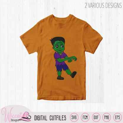 Frankenstein boy, boys Halloween cartoon shirt