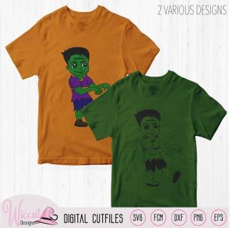 Frankenstein boy, boys Halloween cartoon shirt