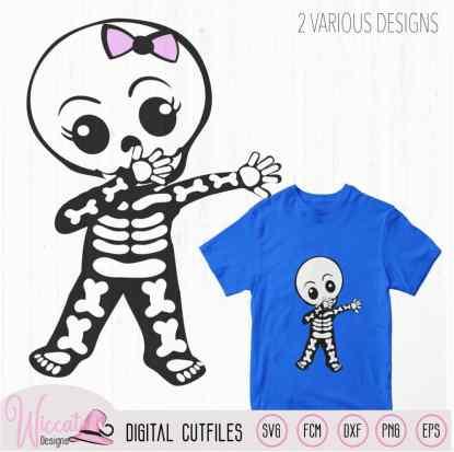 Cute dabbing skeleton