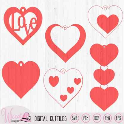 Valentine Leather earring template svg,leather jewel template,