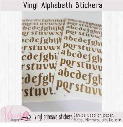 Bold letter stickers, Alphabet stickers, vinyl letters,