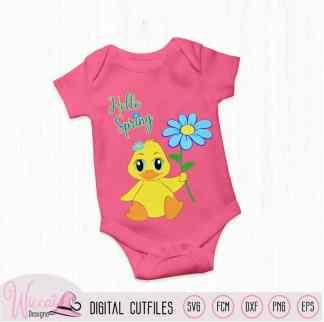 Hello spring baby girl duck,