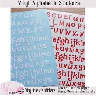 Funny letters, Alphabet stickers, vinyl letters