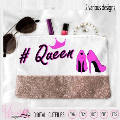 Queen and princess quote, mother daughter design