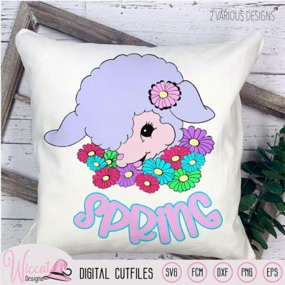 Spring baby lamb, Easter decoration,