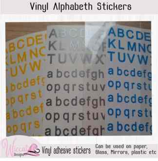 Small letters, modern letters, Alphabet stickers